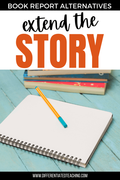 story writing pad for post-novel activity