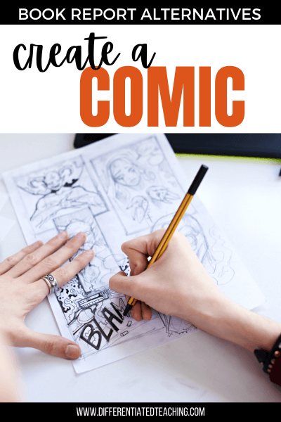 drawing a comic or graphic novel as an alternative to a book report