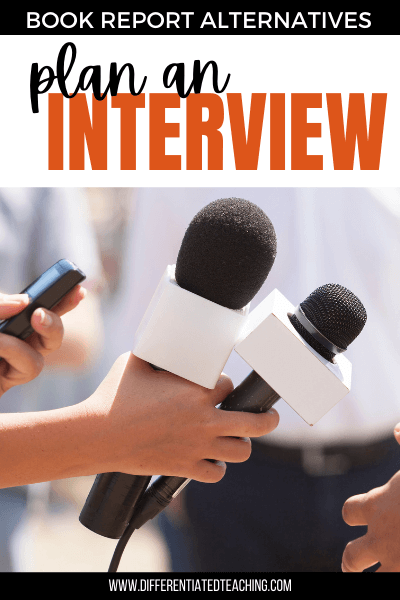 plan an interview with the book author or a character