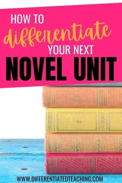 novel study differentiation