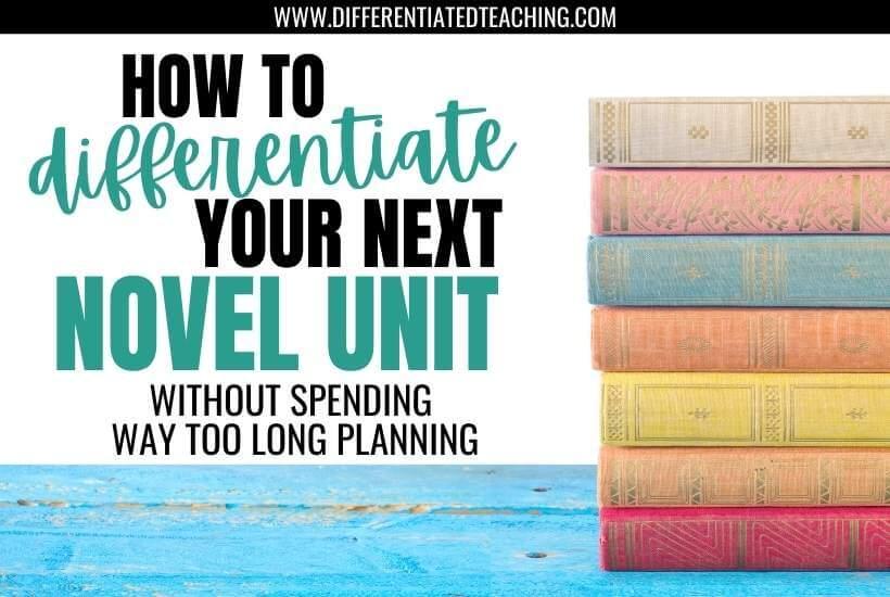 differentiate your novel unit