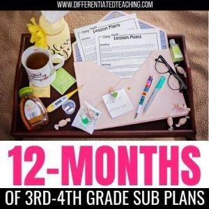 3rd-4th grade sub plans
